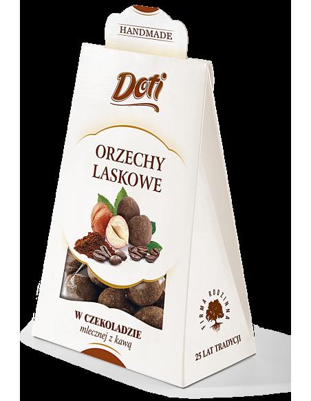 orzechy laskowe w mlecznej czekoladzie z kawą