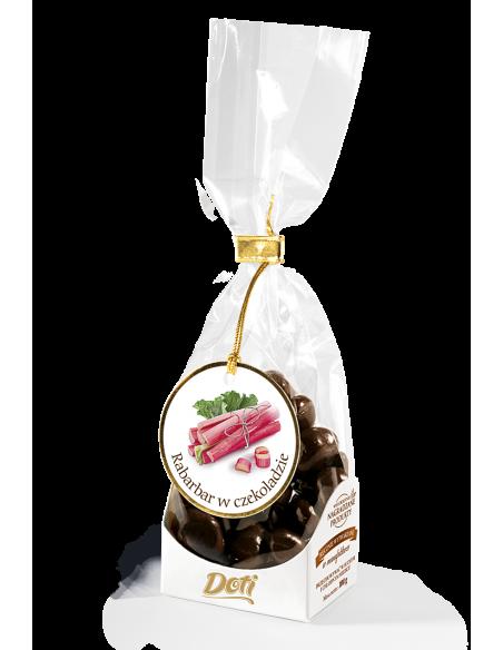 kandyzowany rabarbar w czekoladzie