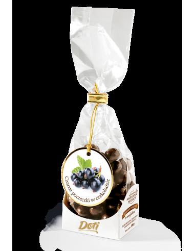 kandyzowane czarne porzeczki w czekoladzie