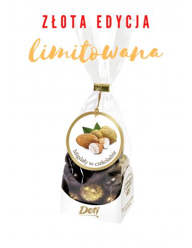 Złote Migdały w czekoladzie - torebka...